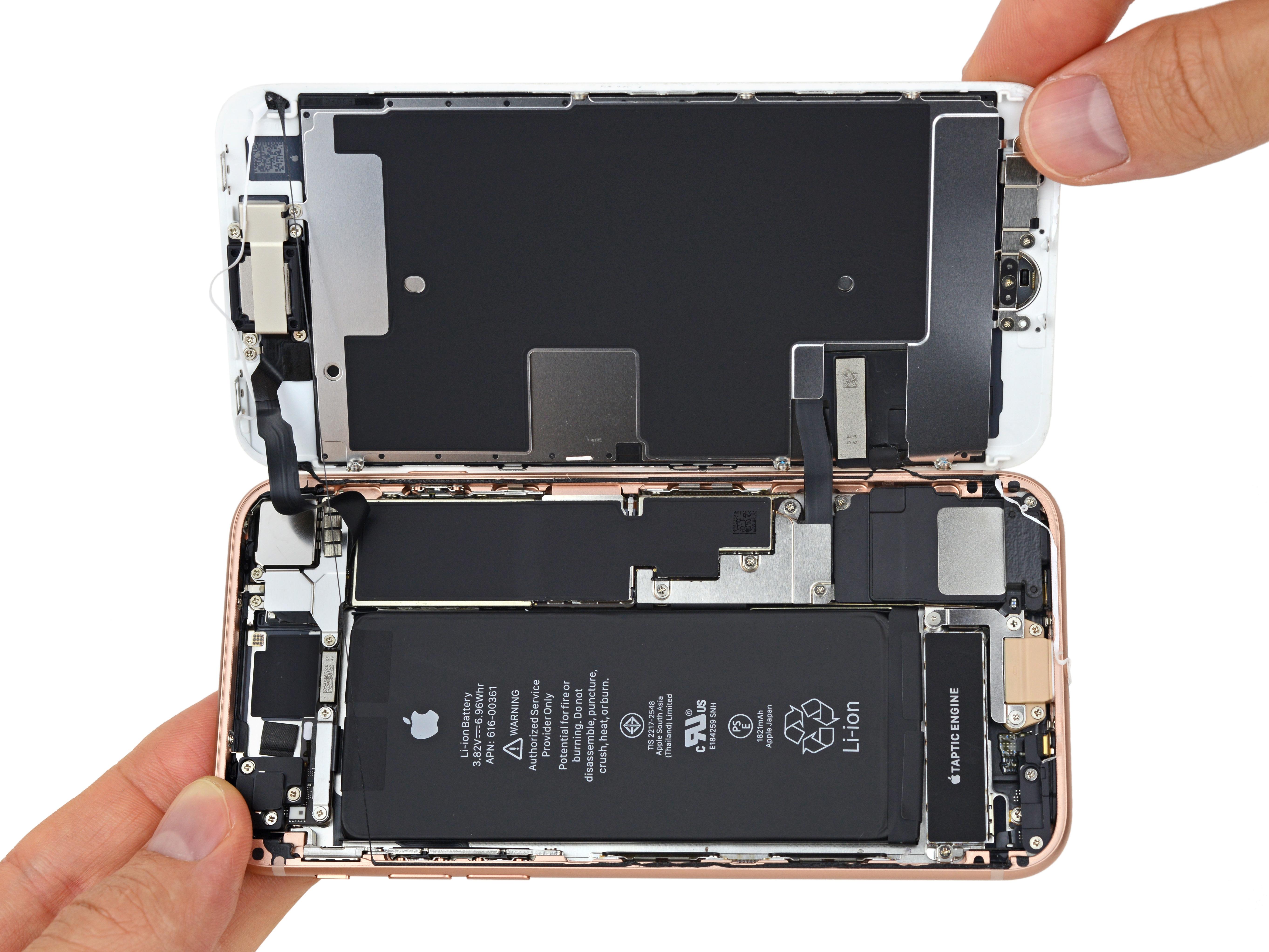 iPhone 8 por dentro