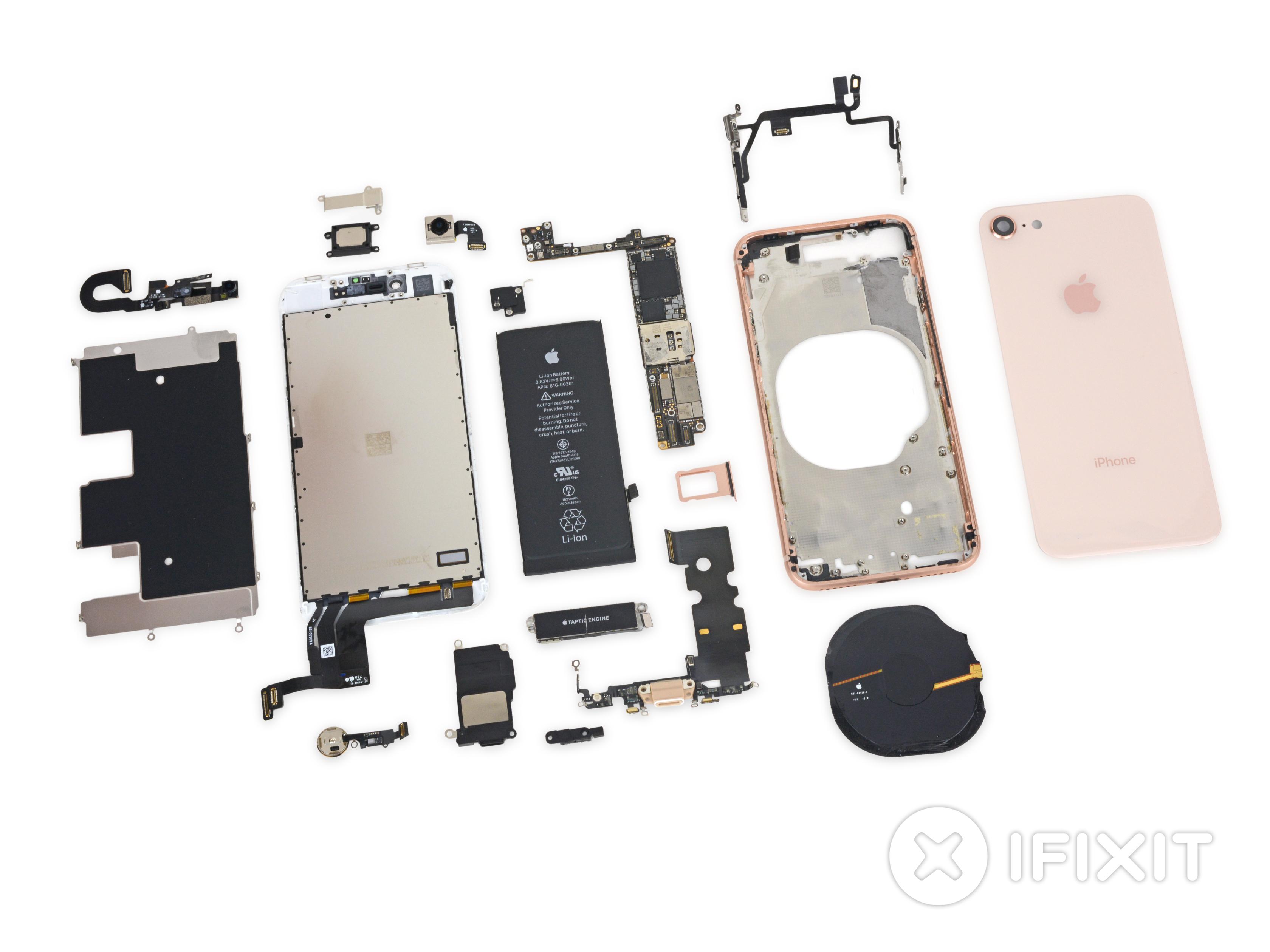 Todas las piezas del iPhone 8