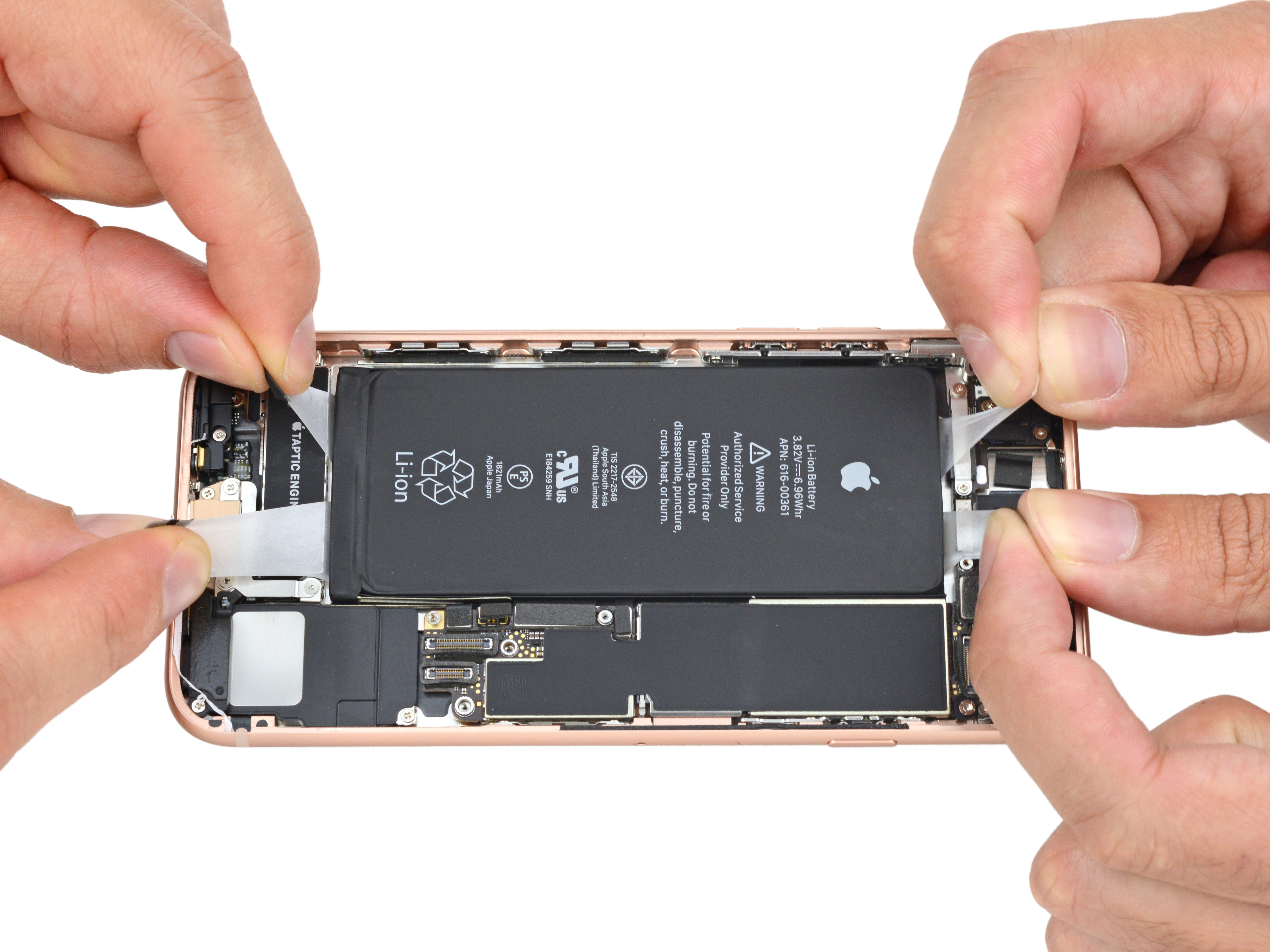 iPhone ocho por dentro