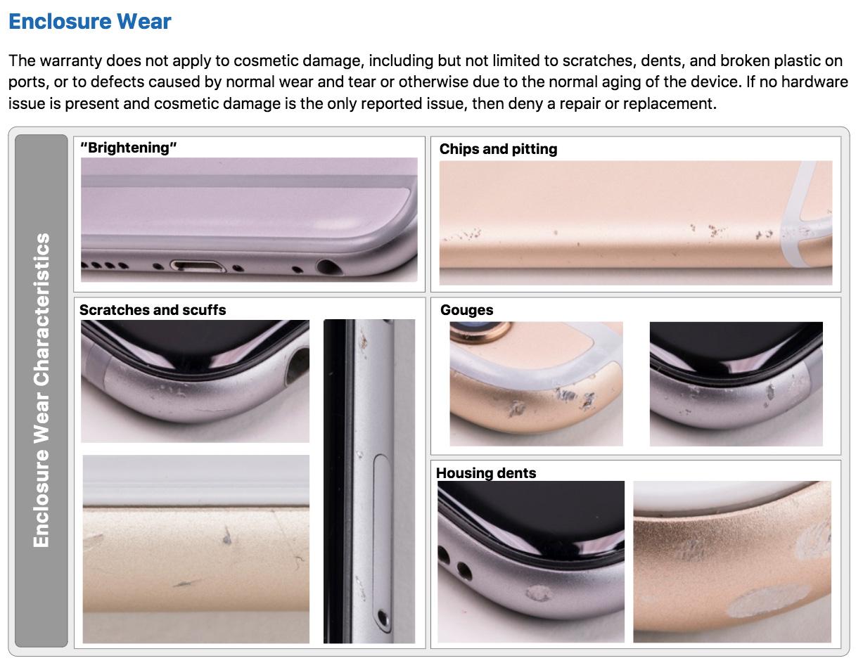 Posibles arañazos reparables en un iPhone