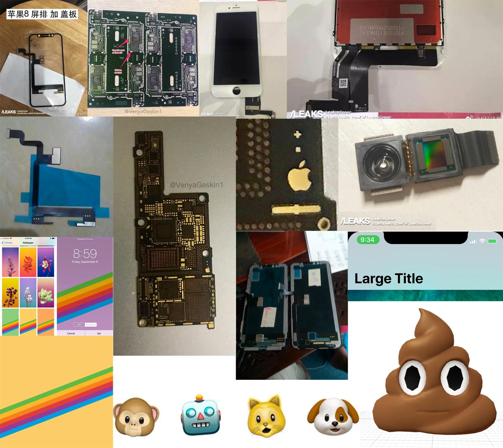 Todas las filtraciones del iPhone X y iPhone 8