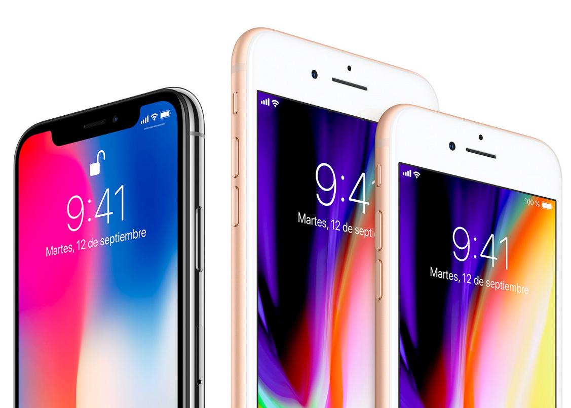 iPhone 8, 8 Plus y X