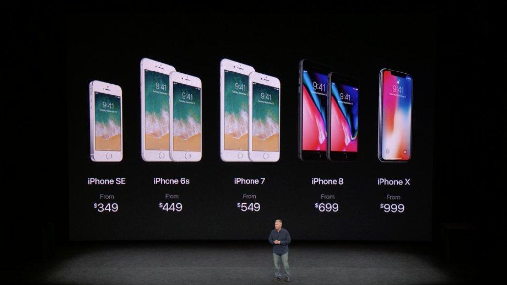 Todos los costes de toda la gama de iPhones de Apple a finales del 2017