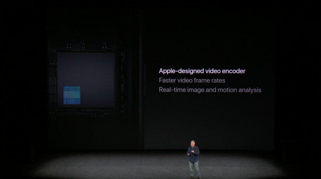 Codificador de video del iPhone 8