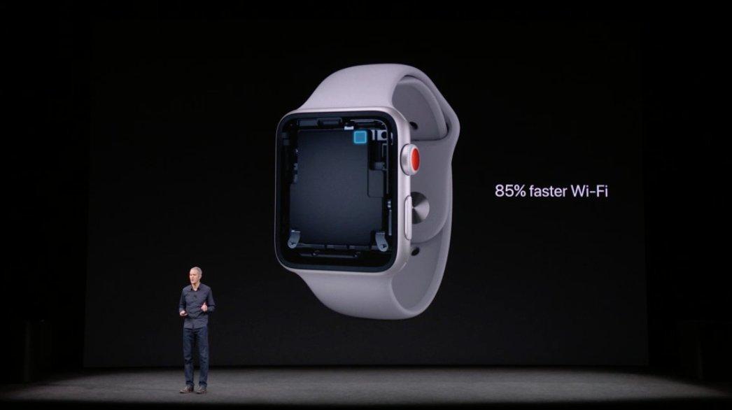 Wi-Fi del Apple™ Watch series tres un 85% mas rápida