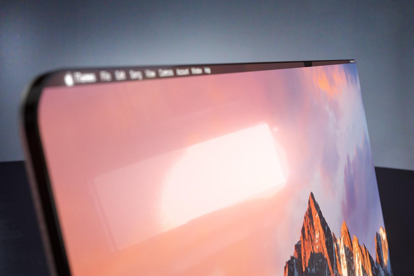 Concepto de diseño de MacBook con el estilo de diseño del iPhone X