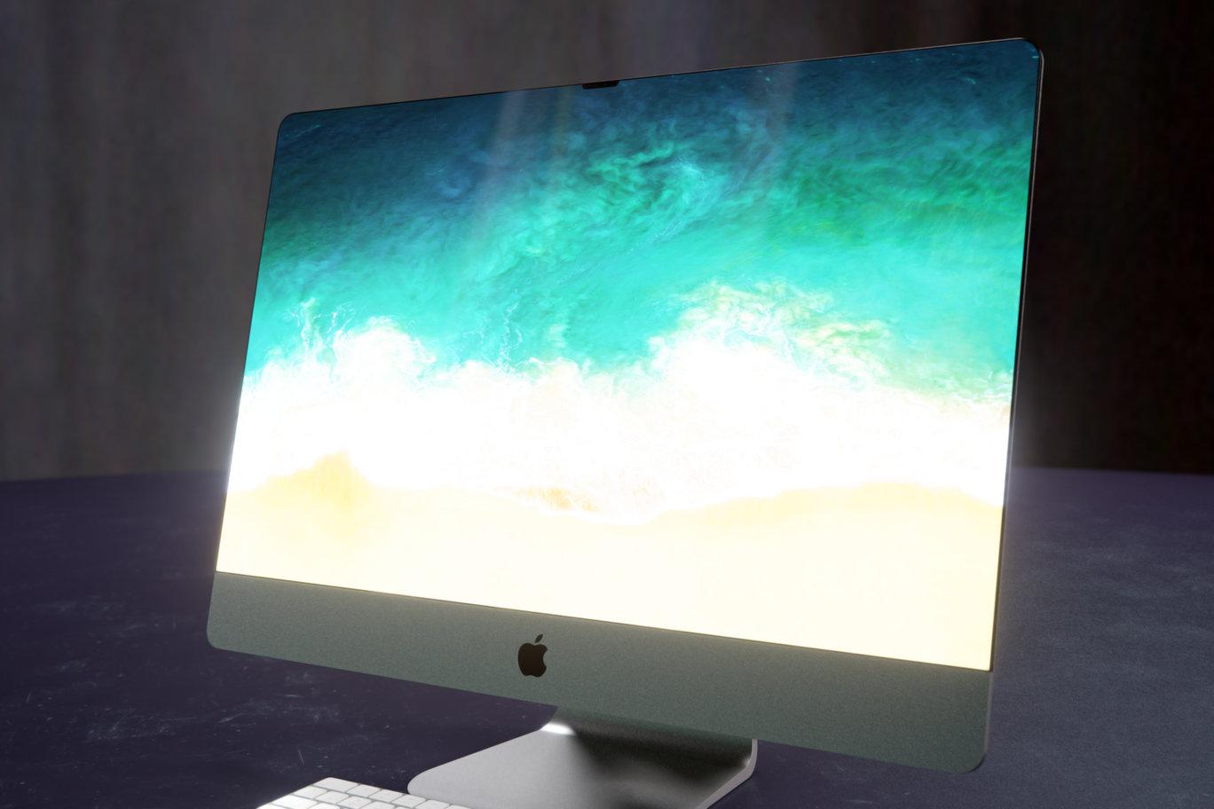 Concepto de diseño de iMac con el estilo de diseño del iPhone X