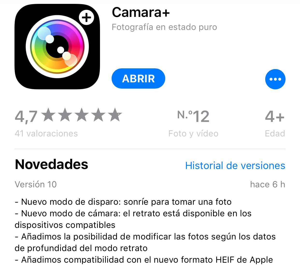 Camara+ actualizada