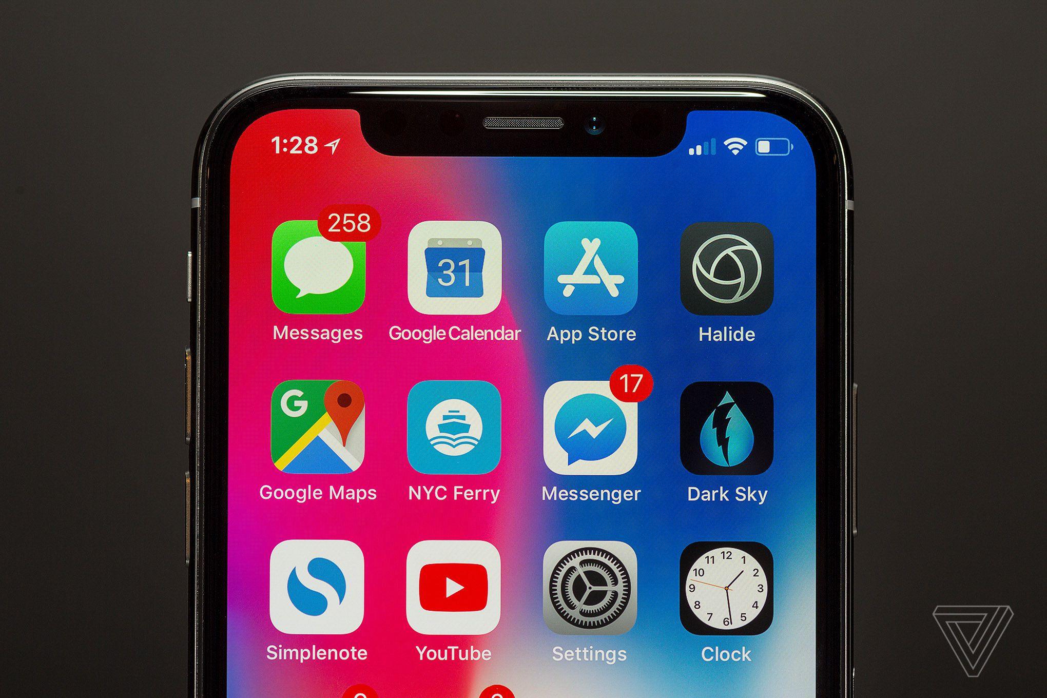 iPhone X (imagen de The Verge)