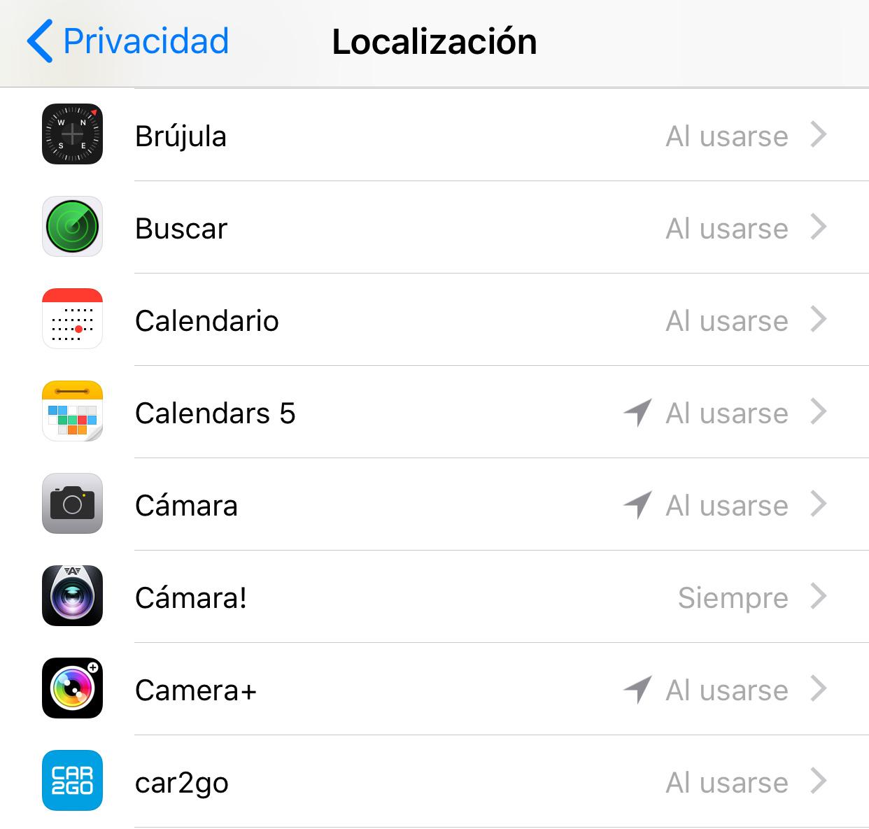 Qué Apps utilizan localización en segundo plano