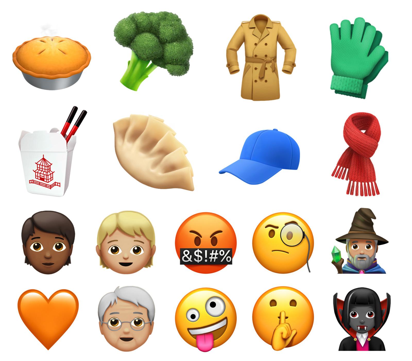 Nuevos emojis para iOS™ 11.1