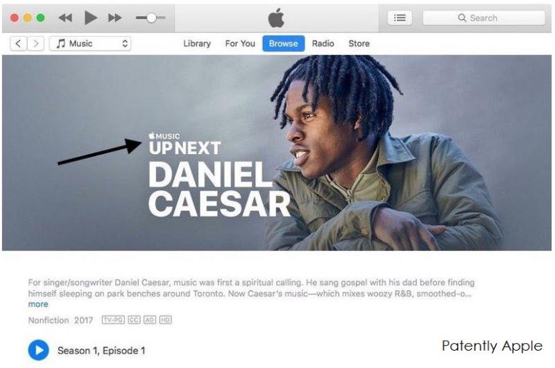 Registro de marca Up Next en Apple™ Music