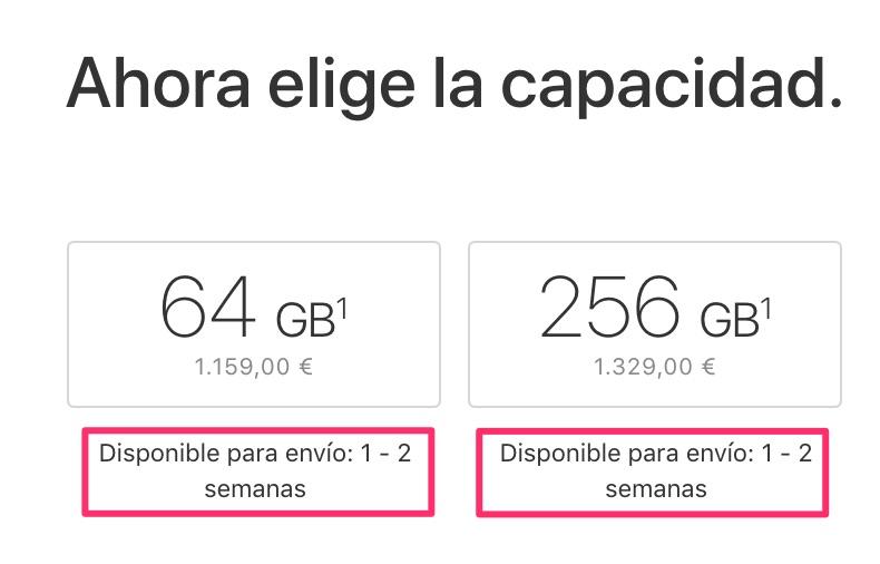 Tiempos de espera de 1-2 semanas para el iPhone X en España y México