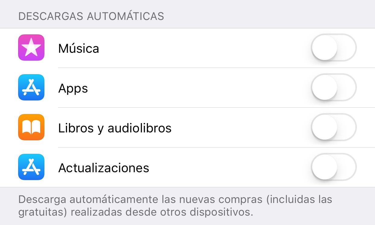 Desactivando la actualización de Apps en segundo plano
