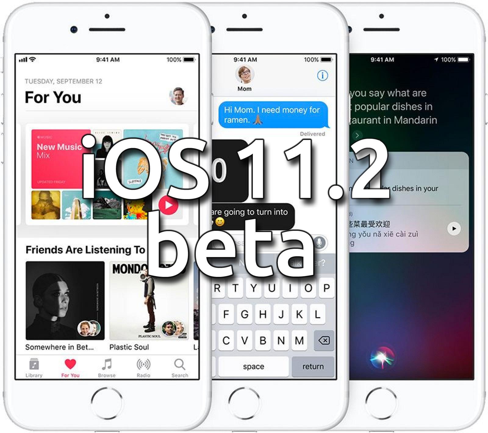 iOS 11.2 beta