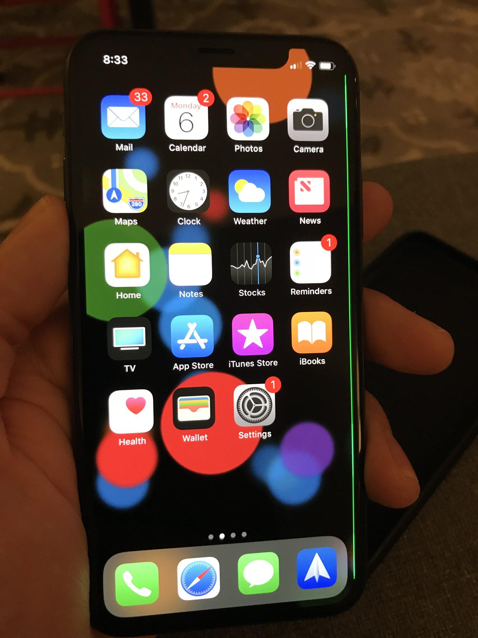 Línea verde apareciendo en algunos iPhone X