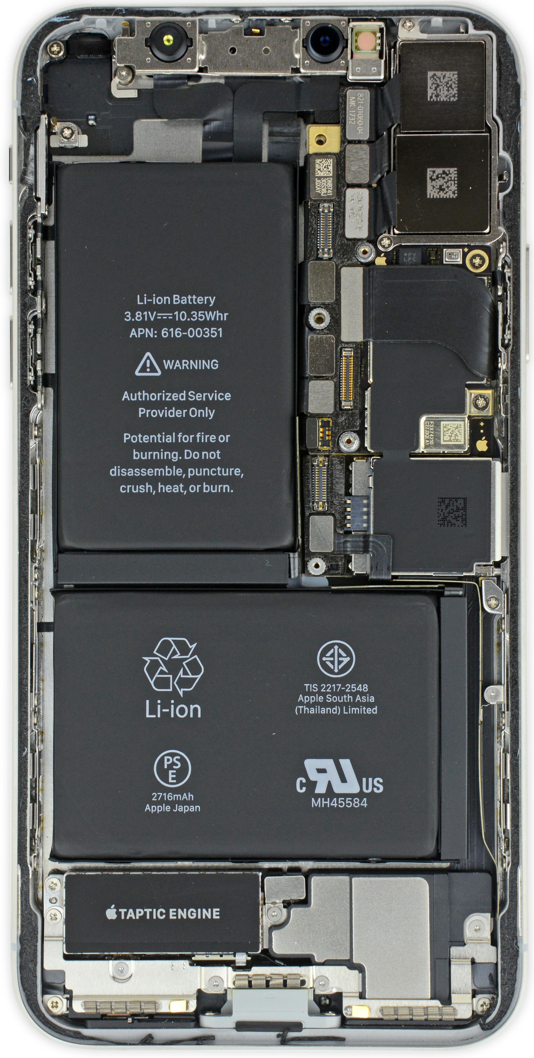 iPhone X por dentro
