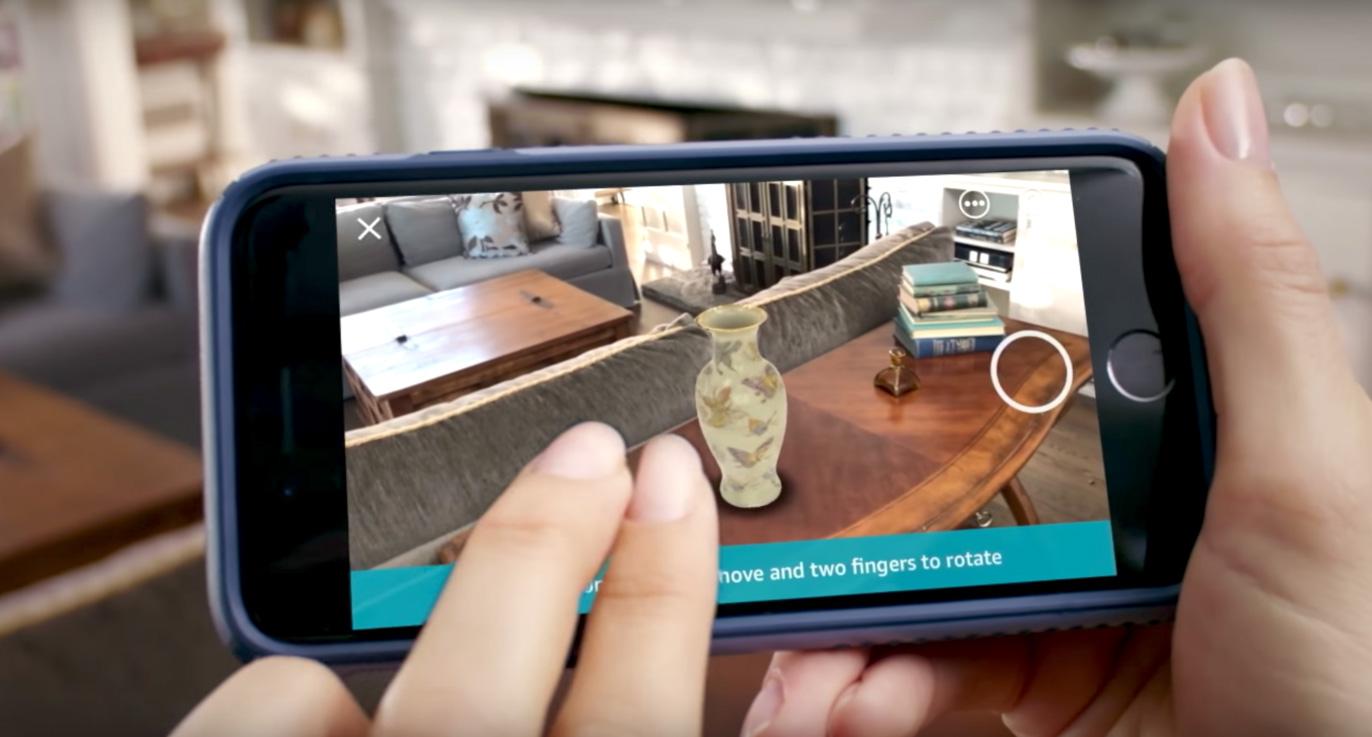 Realidad aumentada en la Aplicación de Amazon para ver cómo queda un producto en casa