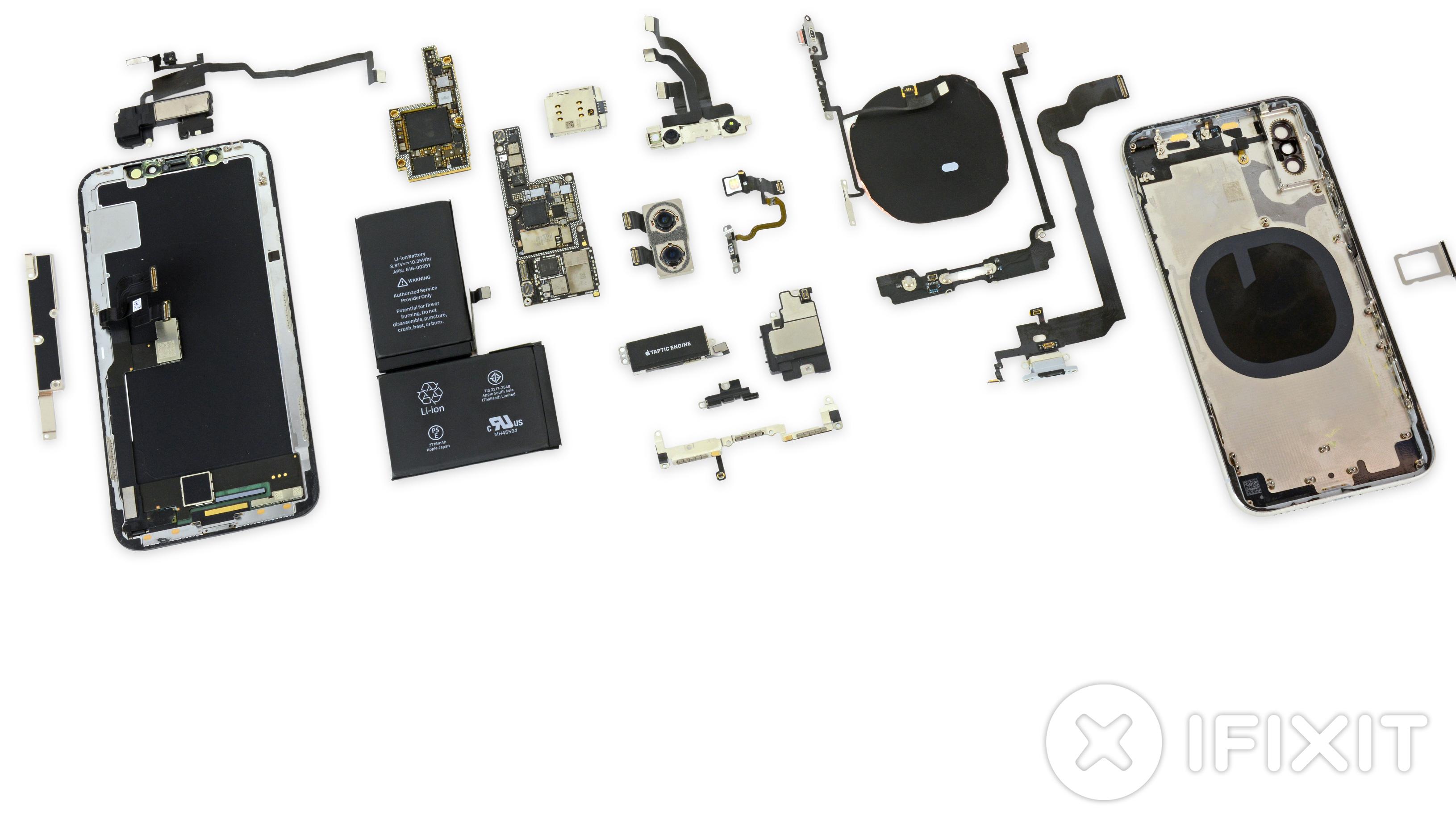 Todas las piezas y componentes de un iPhone X
