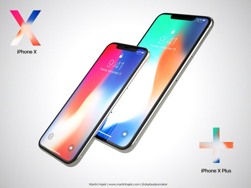Concepto de diseño del iPhone X Plus