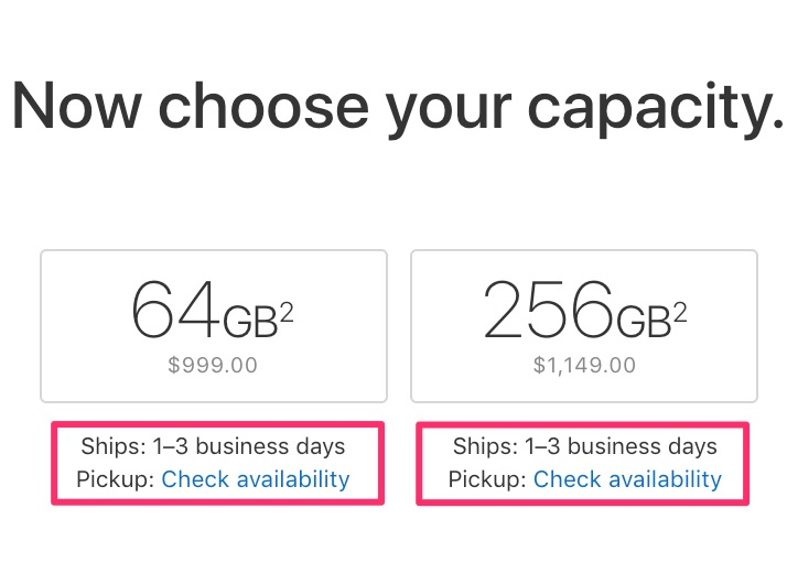 Tiempos de entrega del iPhone X en EEUU a 1-3 días