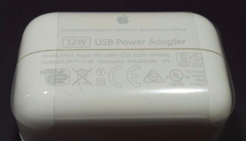 Cargador de iPad de 12W