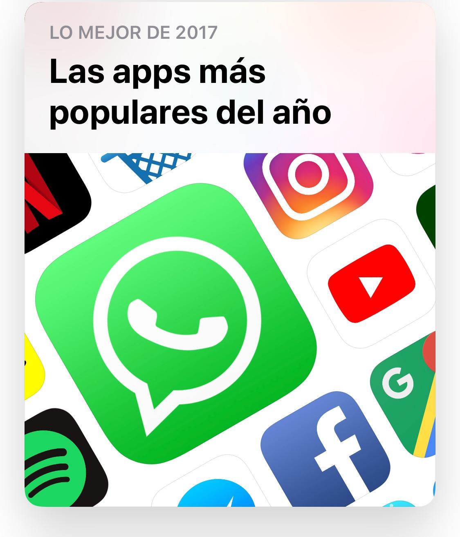 Apps más populares del año 2017