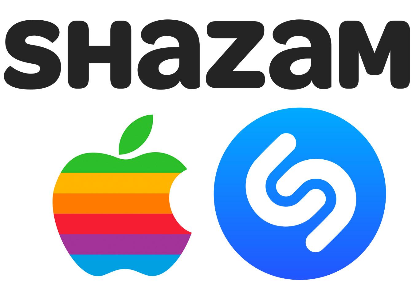 Logos de Apple y Shazam