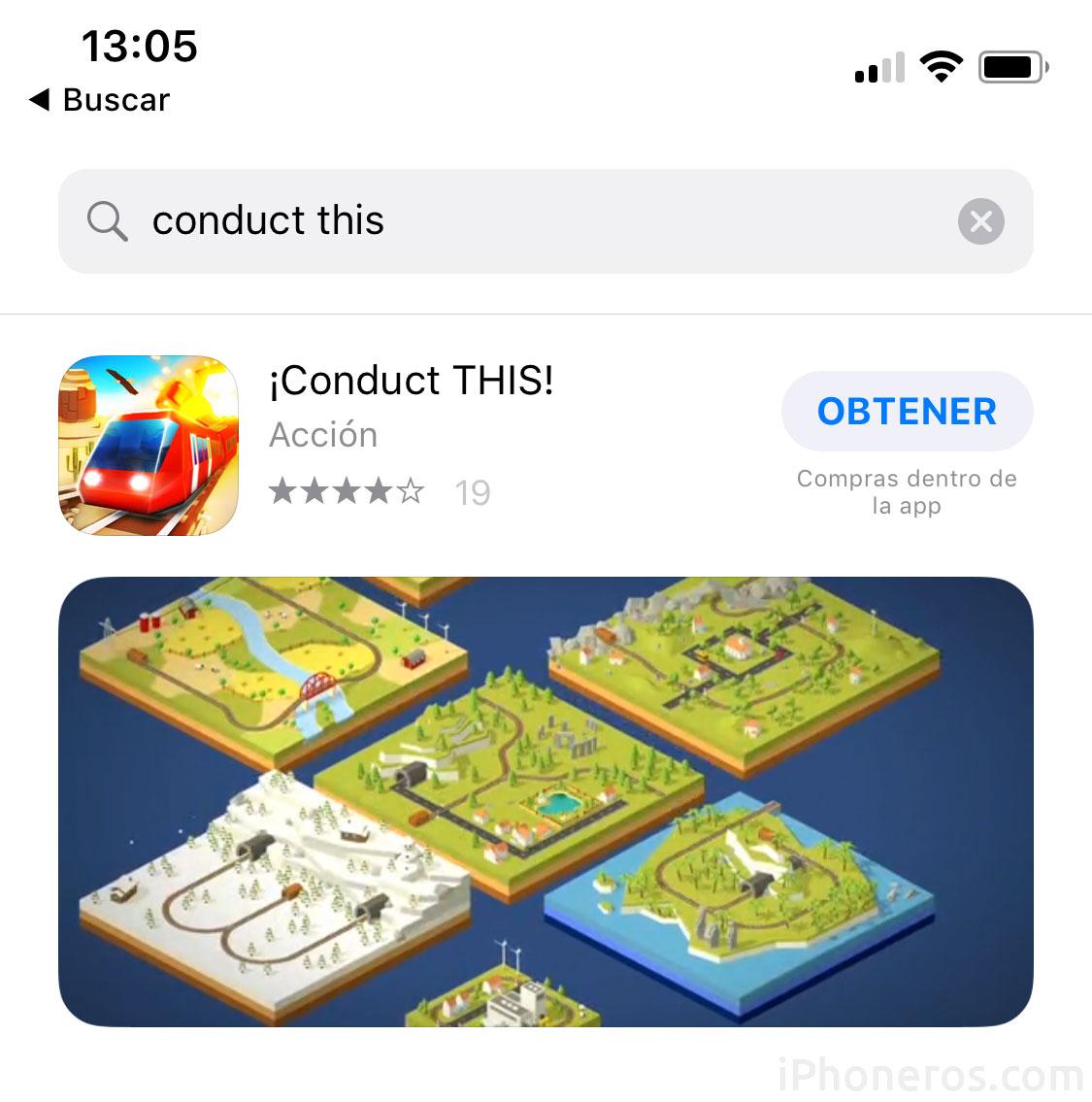 Buscando por alguna App en la App Store