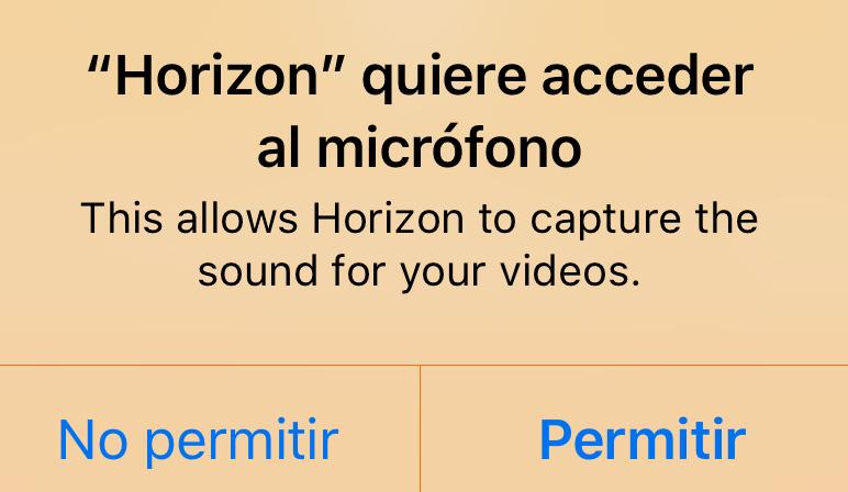 Petición de acceso al micrófono en iOS