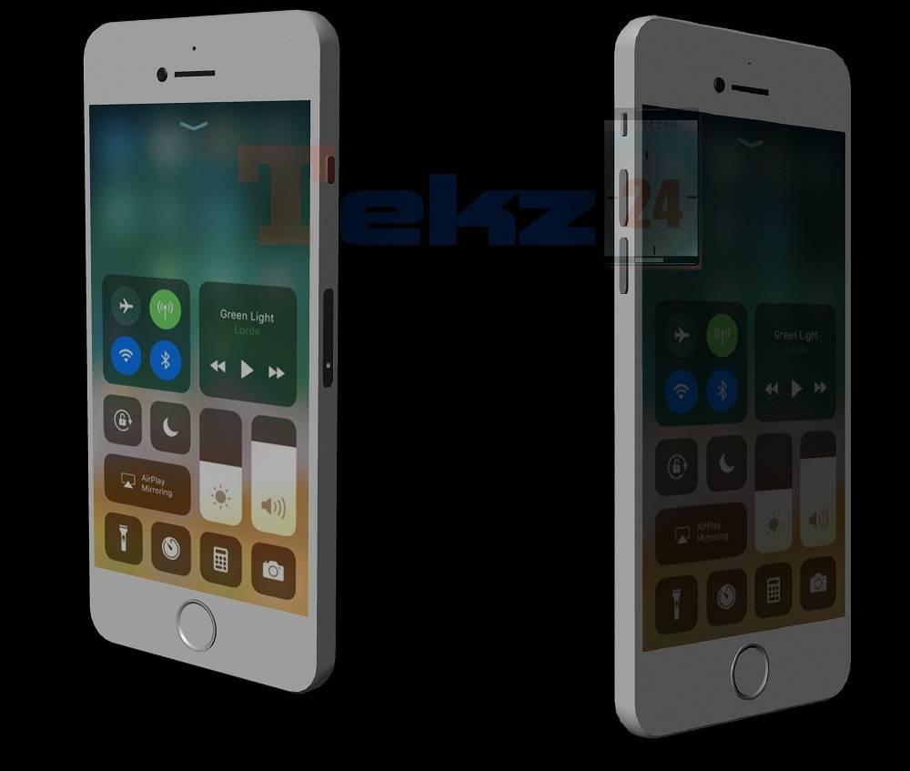 Imagen generada por ordenador de un iPhone SE 2 de cristal