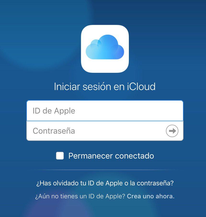 Login en iCloud
