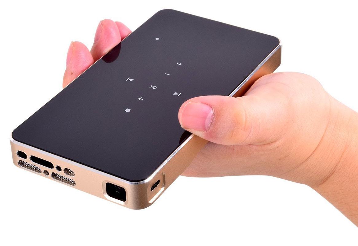 Pico proyector portátil conectable a un iPhone