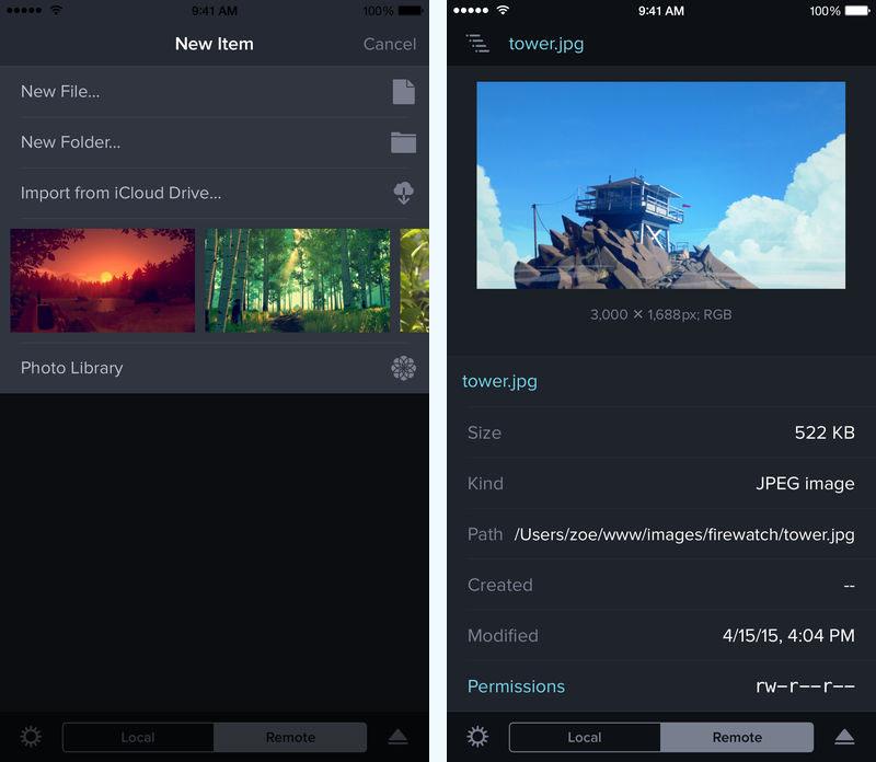 Transmit para iPhone / iPad