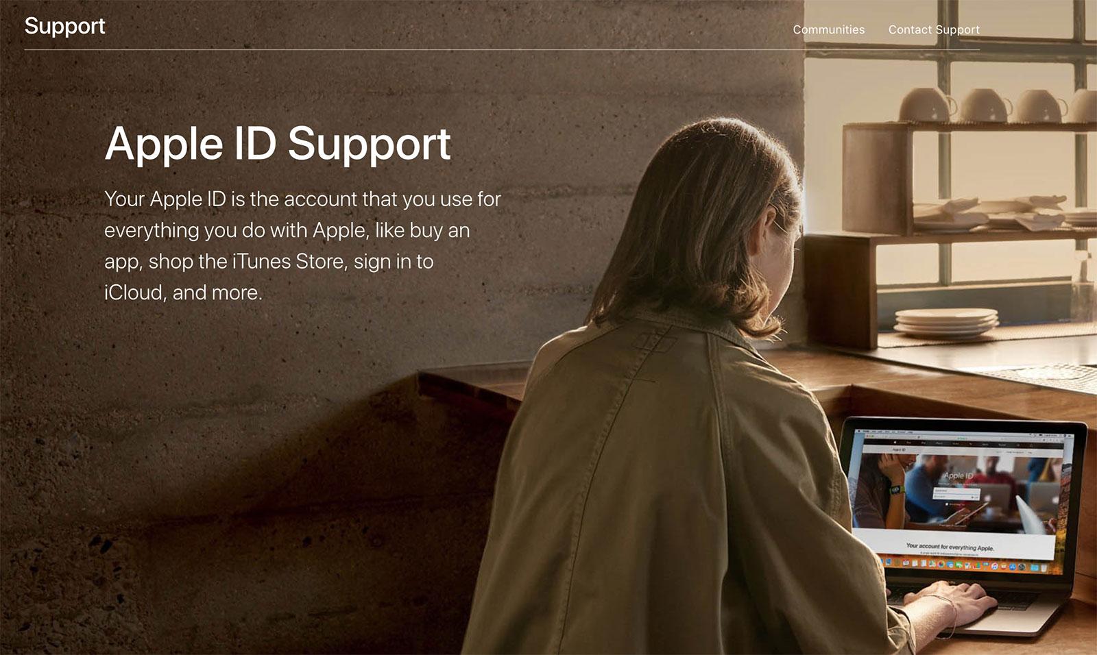 Web de Apple ID