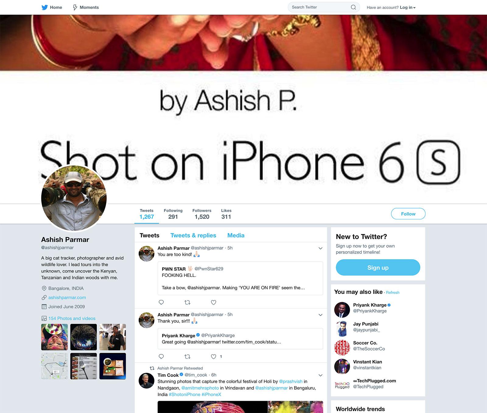 Ashish Parmar en Twitter