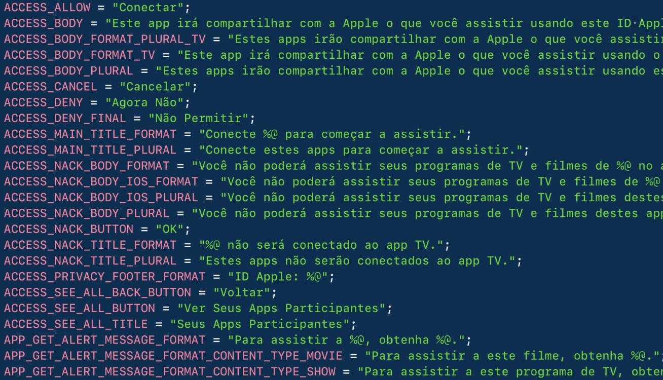 Indicios de la App de TV en Brasil