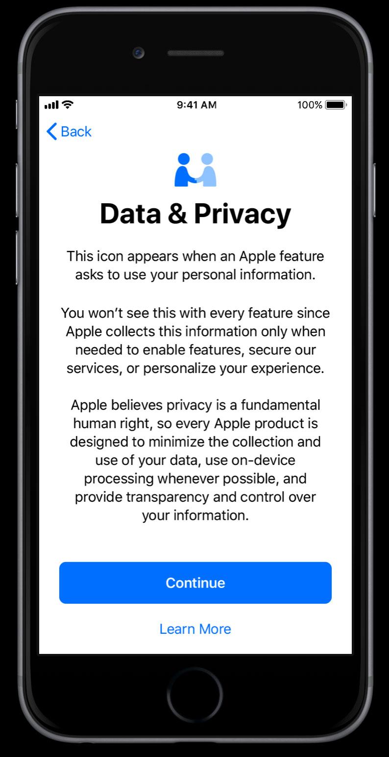 Datos y privacidad del usuario en iOS 11.3