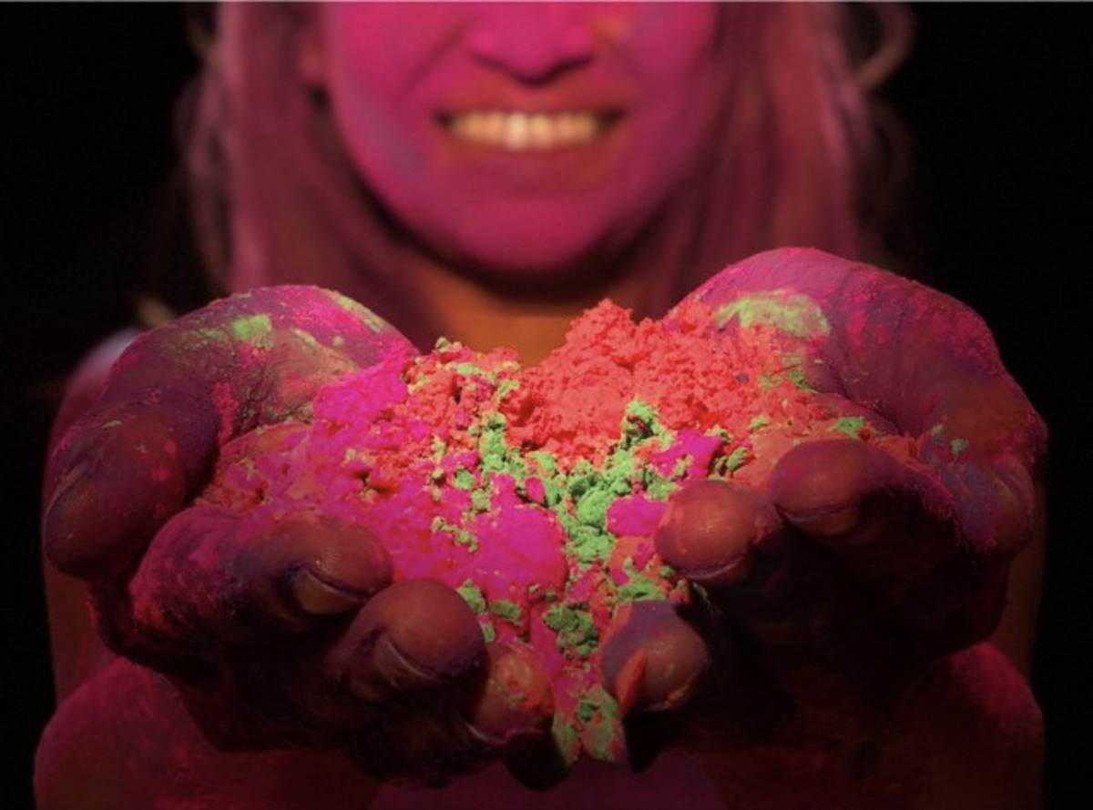 Foto del festival indú Holi hecha con el iPhone X