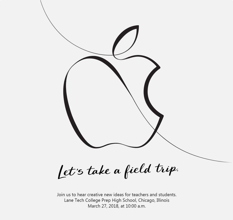Evento de Apple para la educación en Marzo de 2018