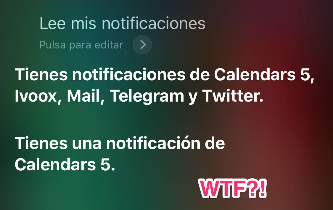 Siri leyendo notificaciones