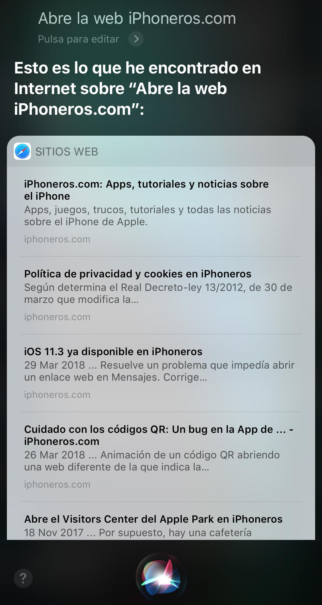 Siru no puede abrir iPhoneros.com