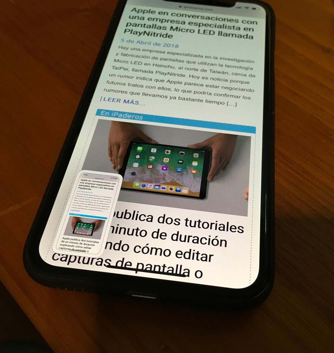 Cómo aprovechar el nuevo sistema de capturas de pantalla sin malgastar espacio de almacenamiento en tu iPhone