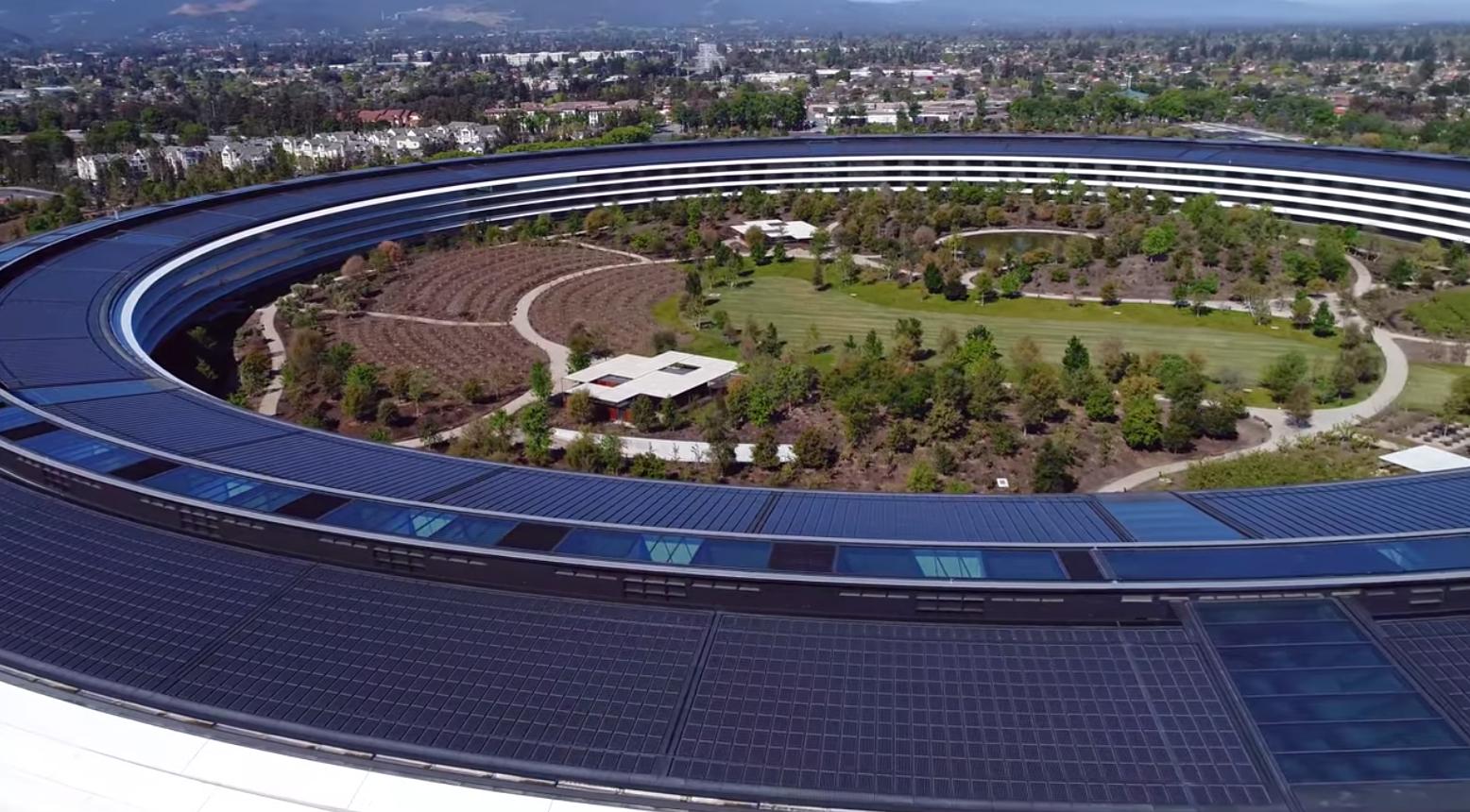 Oficinas con figura de anillo en el Apple™ Park