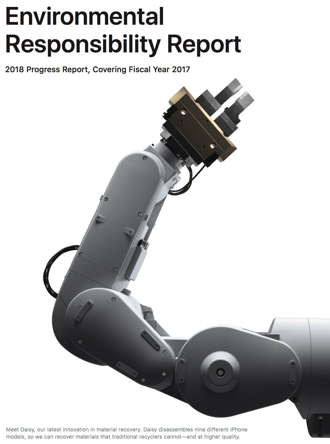 Reporte medioambiental del 2017, con el robot Daisy
