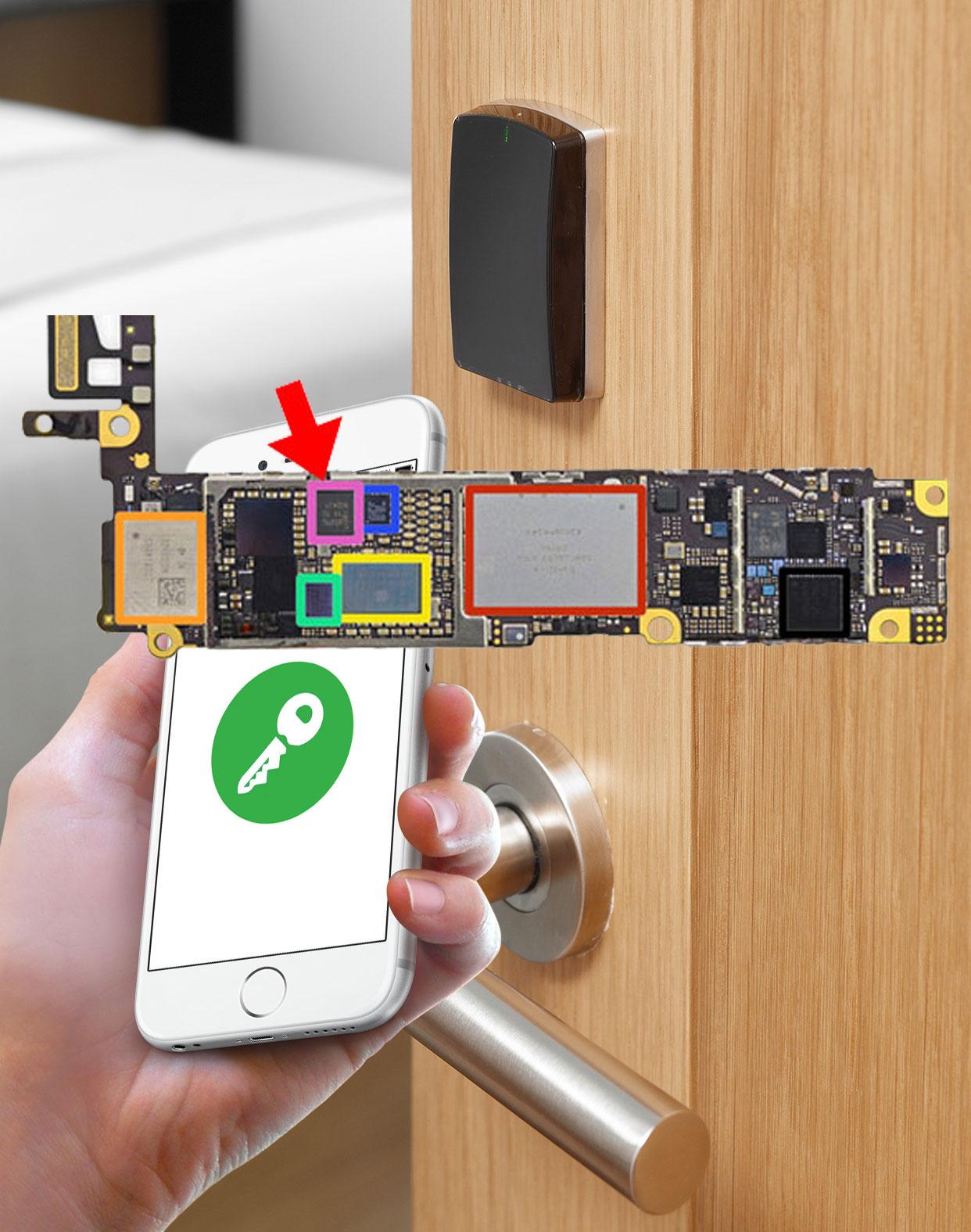Chip NFC en el iPhone 6 para abrir la puerta de un hotel