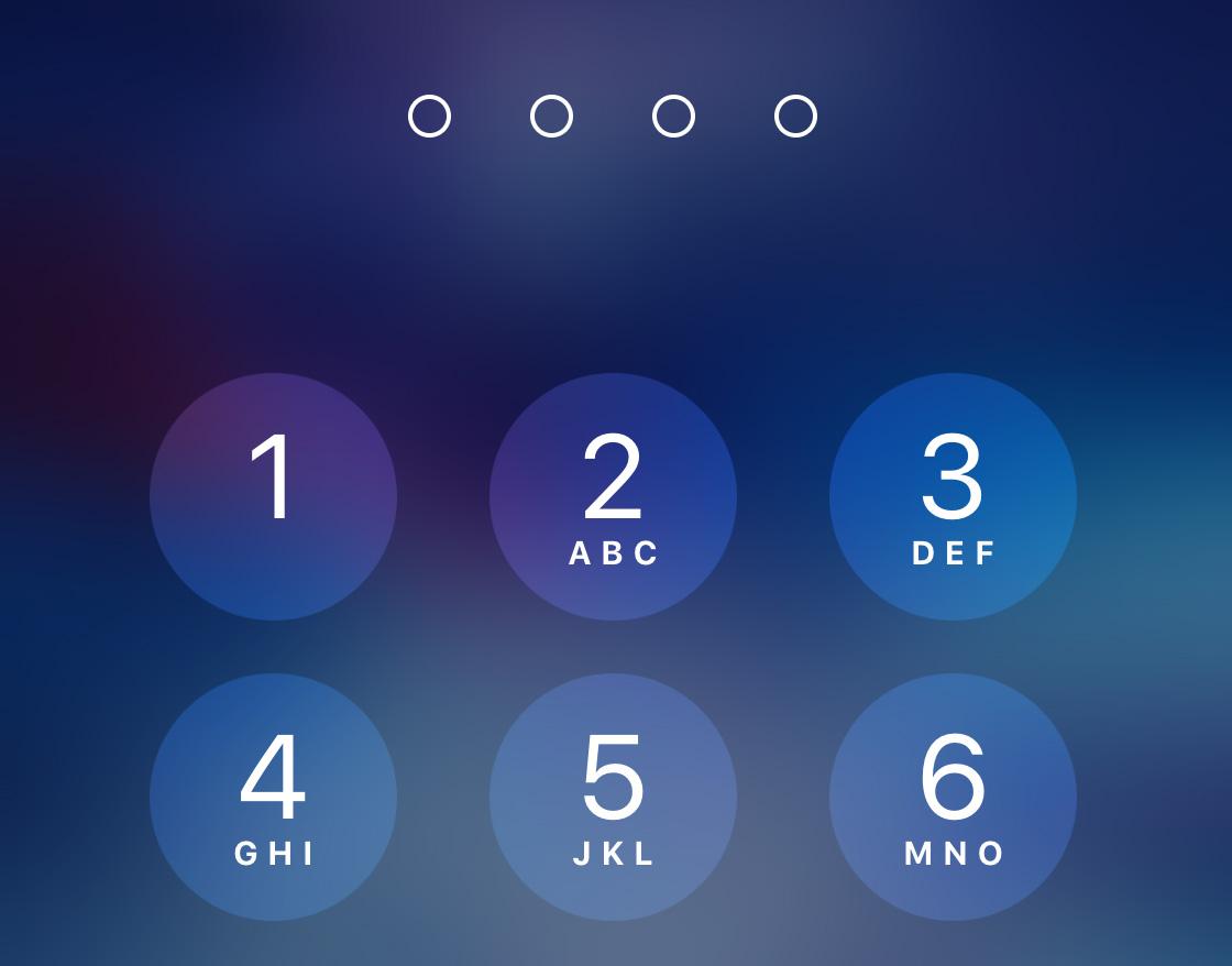 Clave en la pantalla de bloqueo del iPhone