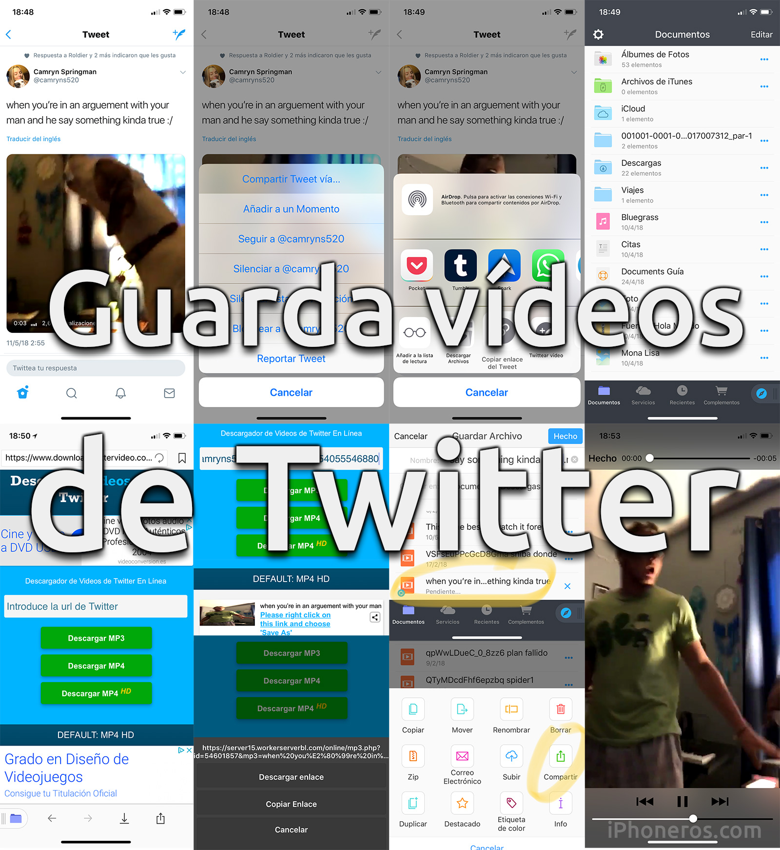 como descargar videos de twitter en android