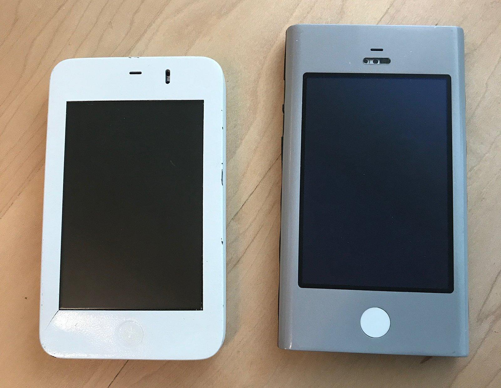 Prototipos originales del iPhone