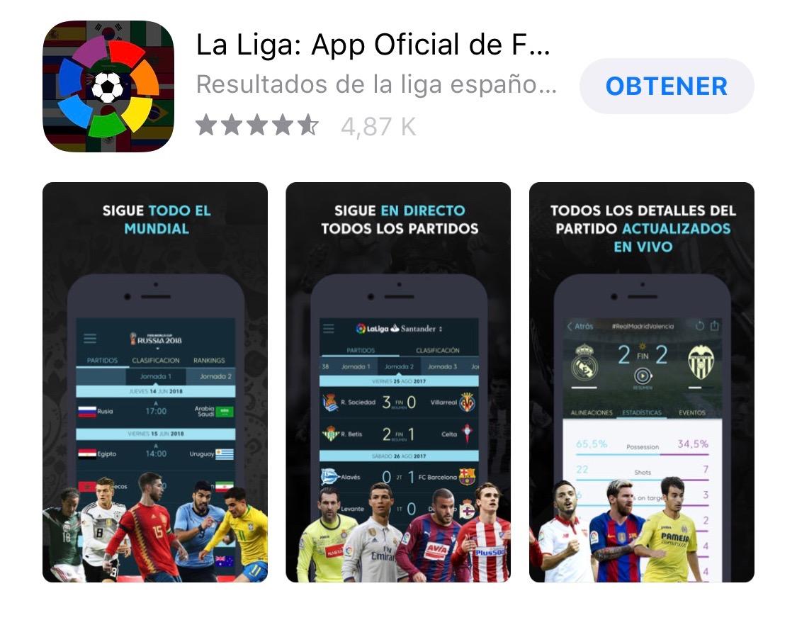 App de La Liga en la App Store